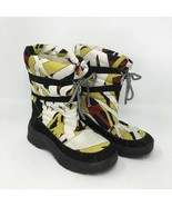 Emilio Pucci Snow Ski Insulated Boots, Size 36, Geometric Pattern, Laces - $45.42
