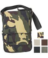 Vintage Canvas Tablet Messenger Bag, Tech Case Travel Shoulder Pouch Arm... - $15.99