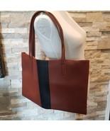Brand New Vince Camuto Tote Bag Red Desert FabFitFun Vegan Leather Brown... - $28.04
