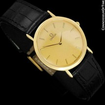 OMEGA DE VILLE Mens Midsize 18K Gold Plated Watch - Mint with Warranty - $975.10