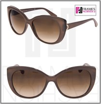 BVLGARI LOGO BV8169Q Turtledove Leather Brown Gradient Cat Eye Sunglasse... - $213.84