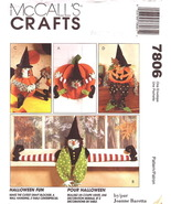 McCall's Crafts 7806 Halloween Fun Craft Decorations Pattern - $10.00
