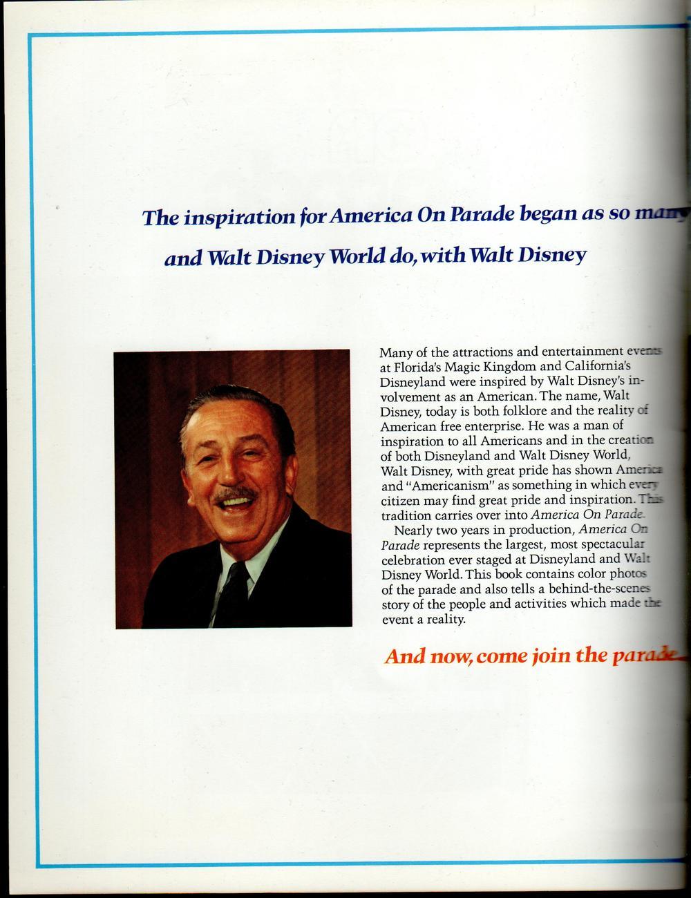 America On Parade A Salute ... A Celebration at Disneyland & Walt Disney World