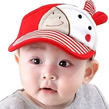 Baby Sun Protection Hat Infant Cap Toddler Without Top 9-36Months(Red)