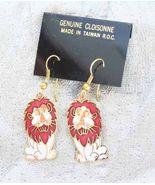 Fantastic Genuine Cloisonne Enamel White & Red ... - $14.95