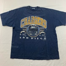 San Diego Chargers Hanes Mens Graphic Tee Blue 1995 NFL Football Heavy Tee XL - $19.75