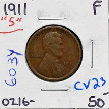 1911S Lincoln Cent Coin Lot# CV23