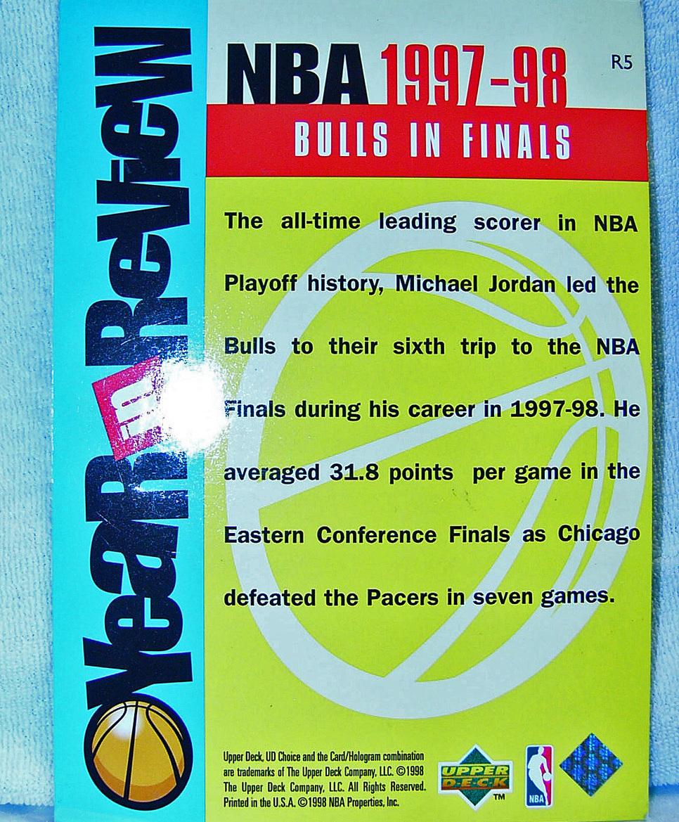 Michael Jordan 1997 Bulls in Finals Giant Card R5