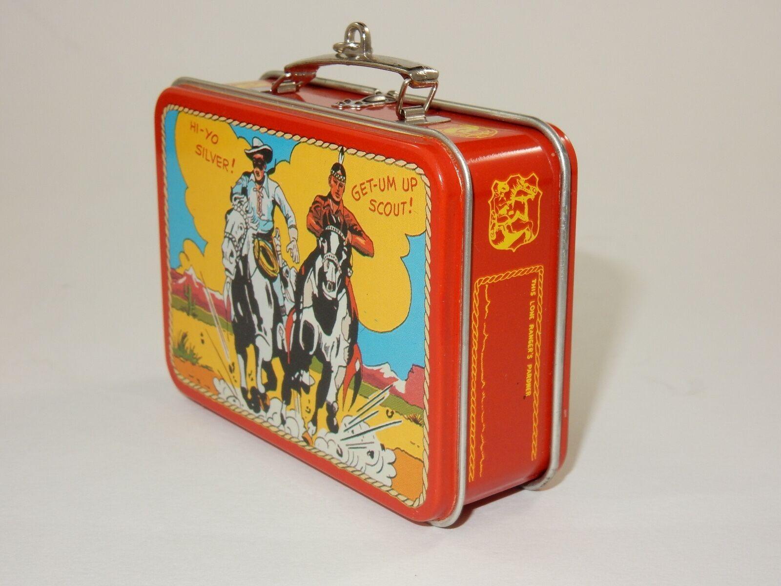 Hallmark 1997 The Lone Ranger Mini Tin Lunchbox Keepsake Ornament