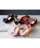 Girls dress shoe baby girl party princess wedding shoes in three colors - $59.99