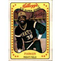Vintage Mlb 1981 Kellogg's #13 Dave Parker Pittsburgh Pirates - $1.50