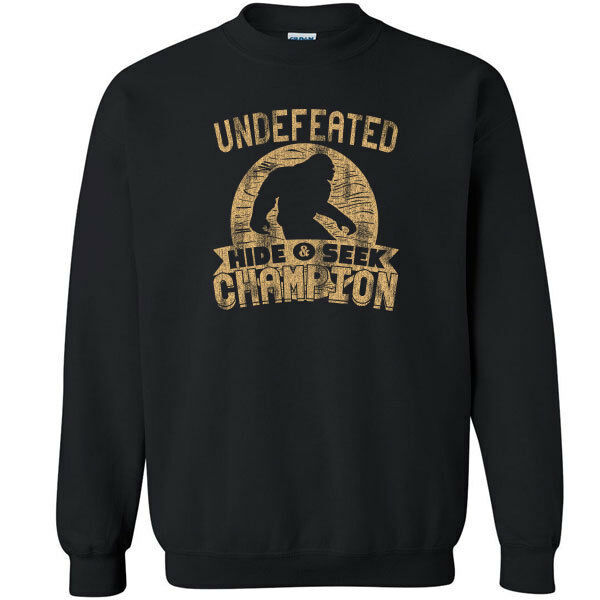 487 Undefeated Hide and Seek Champion Crew Sweatshirt sasquatch big foot new