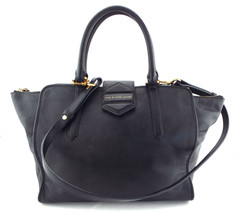 MARC JACOBS Large Black Leather FLIPPING OUT Tote Shopper Bag - $179.00