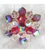 Elegant Iridescent Multicolored Cut Glass Bead ... - $17.95