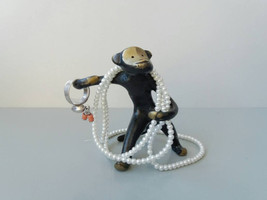 Vintage Ring Holder Monkey Bronze Statuette Figurine Brass Statuette Fig... - $29.00