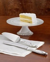 """LENOX """"BELLINA"""" CAKE KNIFE PLATINUM SILVER 13.5 INCH LONG SOLID NEW WITH... - $1.221,07 MXN"""