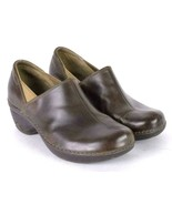 Patagonia Brown Leather Nursing Occupational Clogs Shoes Womens 7 - $29.69