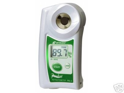 NEW! Atago PAL-3 Digital Abbe 0-93% Brix Refractometer