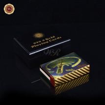 WR Dubai Palm Jumeirah Design 24k Gold Playing Cards Casino Deck Poker w... - $11.21