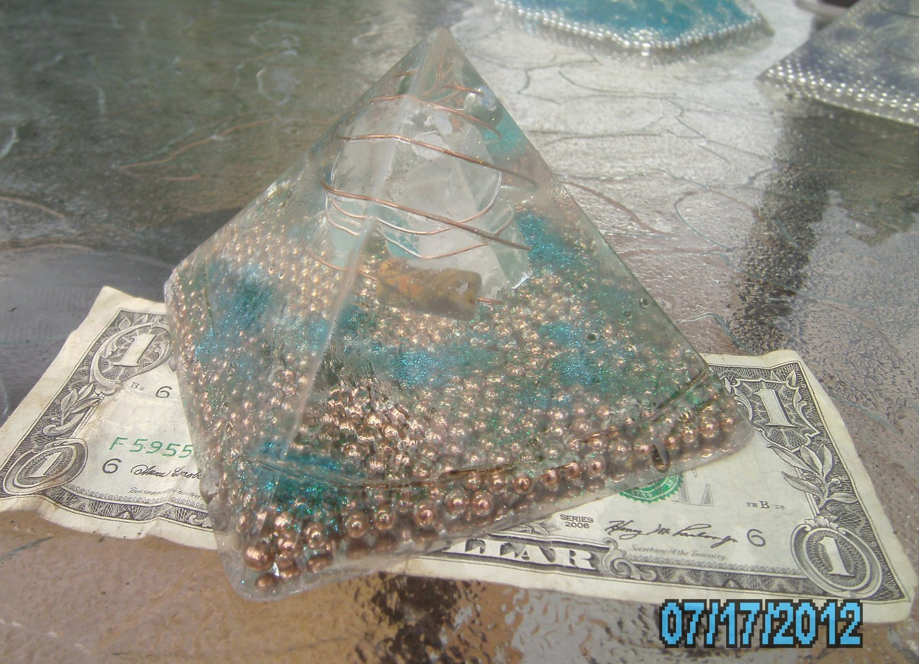 Orgone Energy Pyramid with Jasper