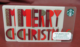 Lot Of 2 Starbucks 2015 Merry Christmas Gift Cards New With Tags - $10.80