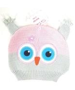 SoDorable Owl Girl Knit Beanie Stocking Cap Hat Infant Toddler 6-12 Mont... - $10.39