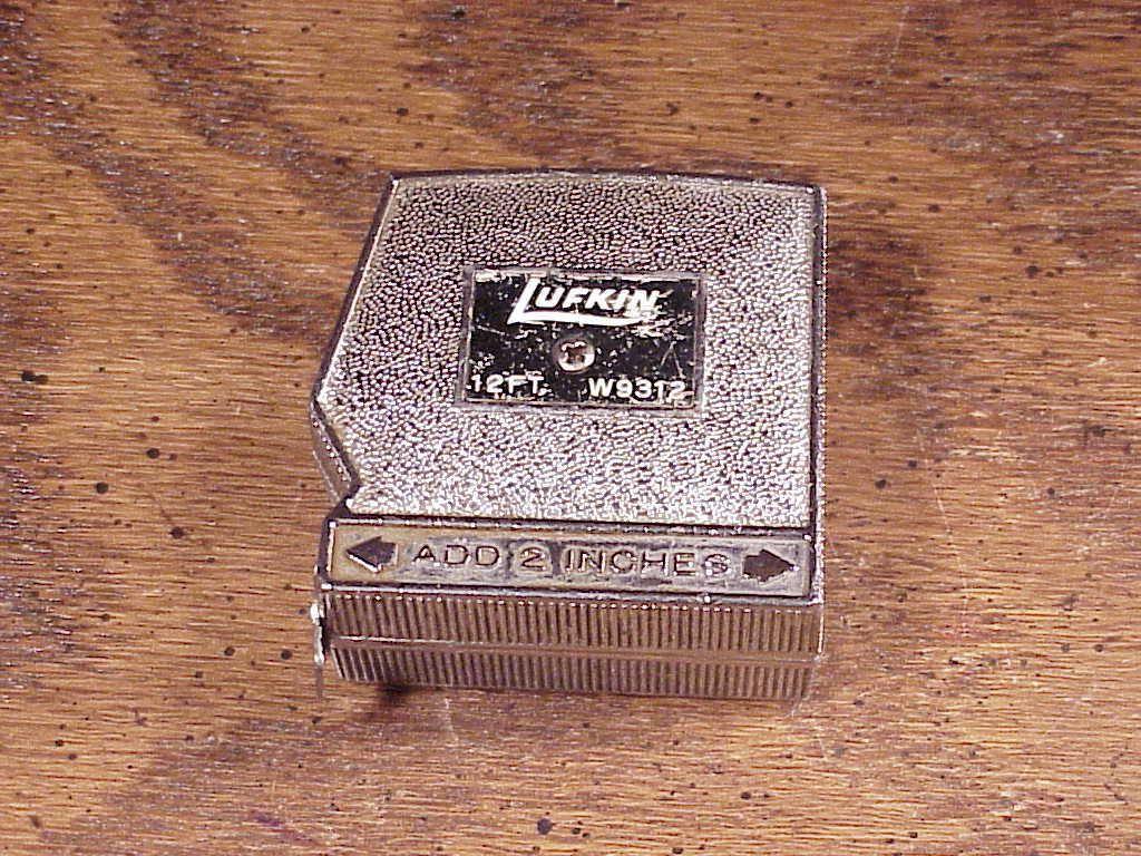 Vintage Heavy Duty Lufkin 12 Feet Tape Measure, no. W9312, Made in the USA