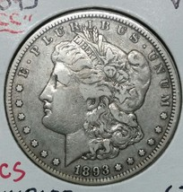 1893CC MORGAN SILVER ONE DOLLAR Coin Lot # E 7