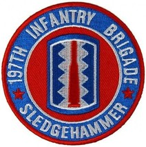 US Army 197th Infantry Brigade Patch Sledgehammer - 3x3 inch ! - $9.89