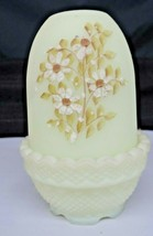 Vintage Fenton Art Glass Hand Painted Custard Fairy Lamp - $35.00