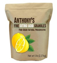Citric Acid Granules by Anthony's, 5lb Non-GMO Food Grade Natural Food Preservat
