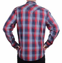NEW LEVI MEN'S CLASSIC COTTON CASUAL BUTTON UP LONG SLEEVE PLAID 3LYLW1262-RNV image 3