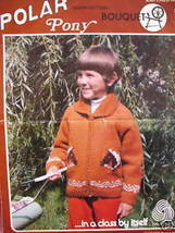 Bouquet Cowichan Type Sweater Knitting Pattern Pony - $6.99