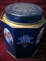 Prince Charles Lady Diana WEDDING Tin Can RIDGWAYS TEA Collector Souvenir