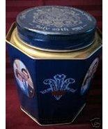 Prince Charles Lady Diana WEDDING Tin Can RIDGWAYS TEA Collector Souvenir - $14.99