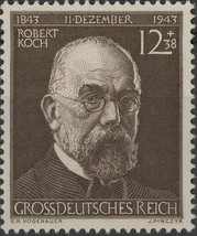 1944 Robert Koch Germany Postage Stamp Catalog Number B251 MNH