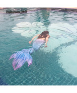 2017 NEW Swimming Mermaid Tails With Monofin Costume Summer Vacation Bea... - $59.99+