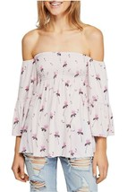 We The Free By Free People Womens Lana Off Shoulder Top Berry Pink Size XS - $51.80