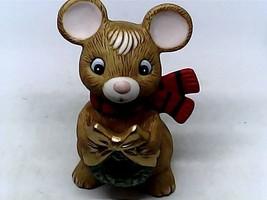 Homco Ceramic Christmas Mouse Figurine - $6.00