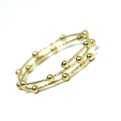18K YELLOW GOLD MAGICWIRE MULTI WIRES RING, ELASTIC WORKED, SPHERES, SNAKE