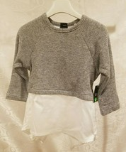 Abigail Top Blouse Sweater Girls Clothing Size 8 Silver Gray Long Sleeve... - $18.53