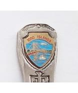 Collector Souvenir Spoon Canada Ontario 1000 Islands Bridge Native Design - $4.99
