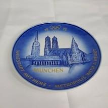 Munich 1972 FRAUENKIRCHE ST. PETER Plate GOEBEL Munich Olympics Munchen ... - $14.46