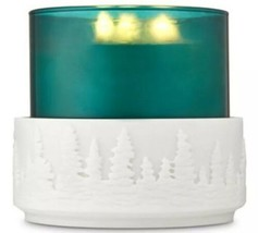 Bath & Body Works Resin Forest Etched Trees Large 3 Wick Candle Holder Sleeve - $18.58