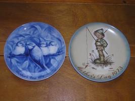 Vintage Lot of 2 Berlin Design Blue China Robin Redbreast Berta Hummel Der Klein - $8.59