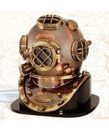 NauticalMart U.S.Navy Replica 1952 Diving Divers Helmet Mark V W/Wooden Base - $329.00