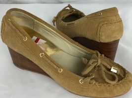 Michael Kors Femmes Chaussures Fauve en Cuir Caoutchouc Semelle Compensé... - $34.36
