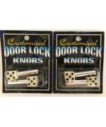 4 Novelty Custom White Dice Interior Door Lock Knobs Pins Vehicle Car Tr... - $9.89