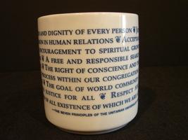 7  Principles of Unitarian Universalist Coffee Mug - $5.00
