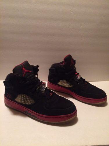 separation shoes 0a96f 7852d Nike Air Jordan AJF 5 Men s Shoes Size 12 Black Red V Fusion Athletic 318608 -